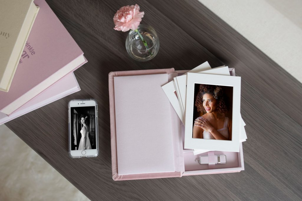 custom folio box photography